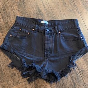 NWOT Blush Black Denim Shorts